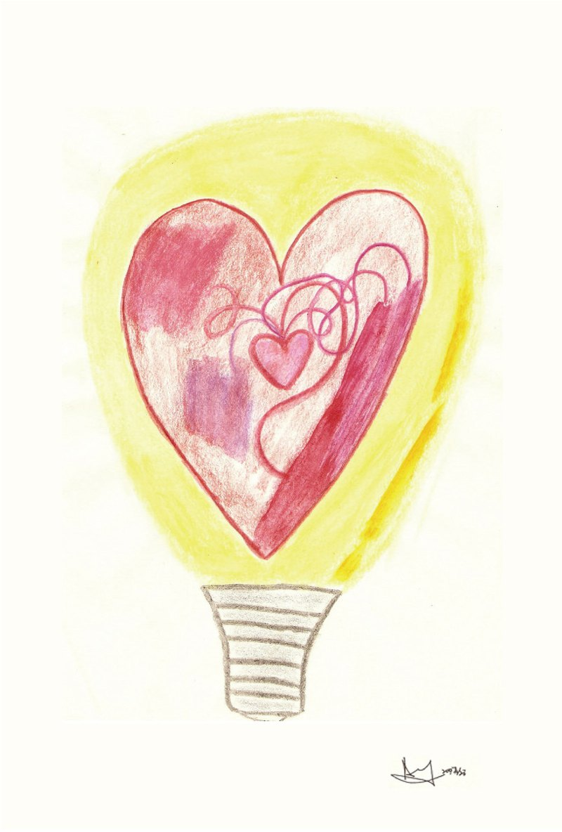 Light of heart-Postcard