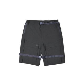oqLiq - AdHeRe - Disassemble pocket door shorts (black)