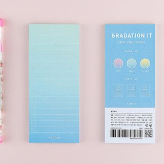 Ardium Gradation It Gradient Note Paper - Blue Green