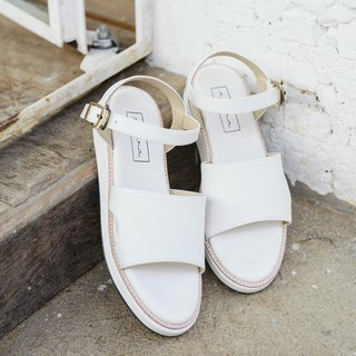 Simple Strap Sandals - White