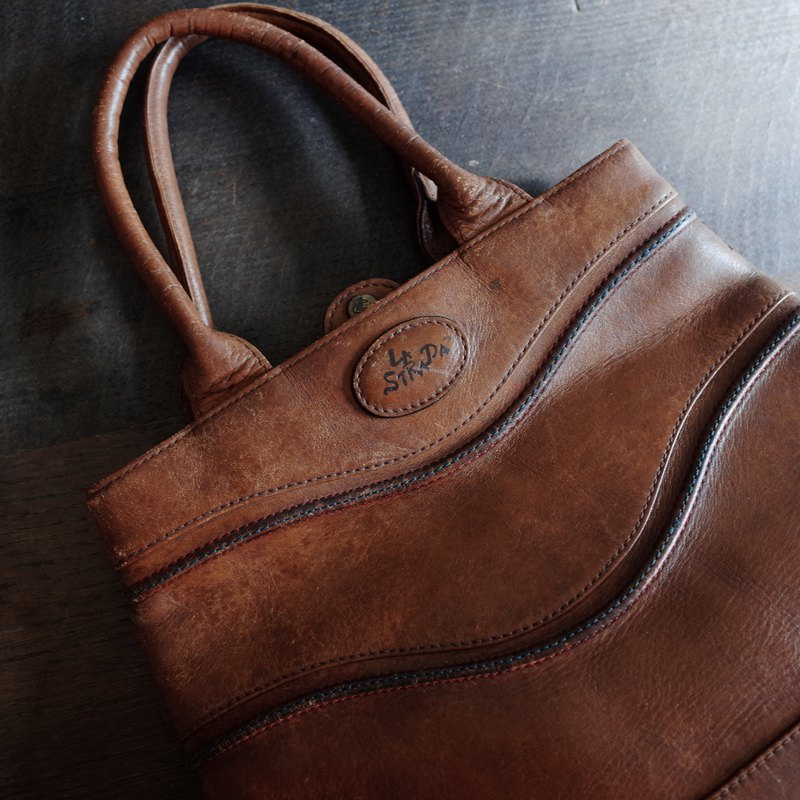 LA STRADA brown / / leather / / portable / / antique bag