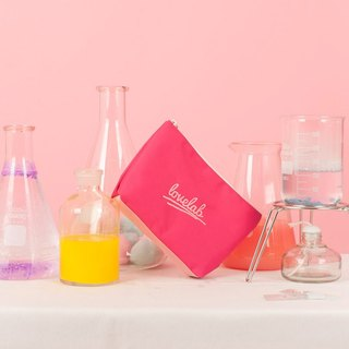 Dear My Universe Love Lab Lettering Cosmetic Bag \ Small Bag - Pink