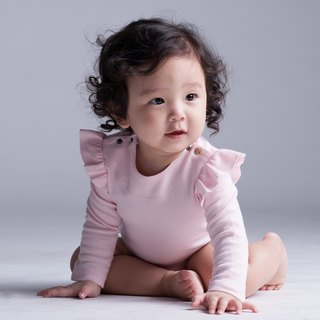 ruffle sleeve onesie - 100% organic cotton