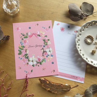 *Zoe Forest's*pink wreath postcard (cs53)