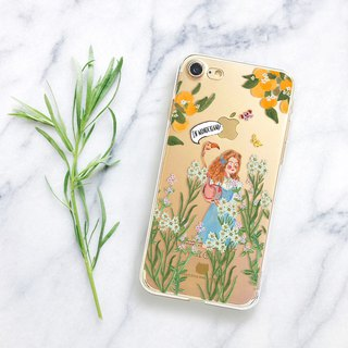 Alice clear phone case Floral clear iPhone x Case Disney phone Case Note8 case