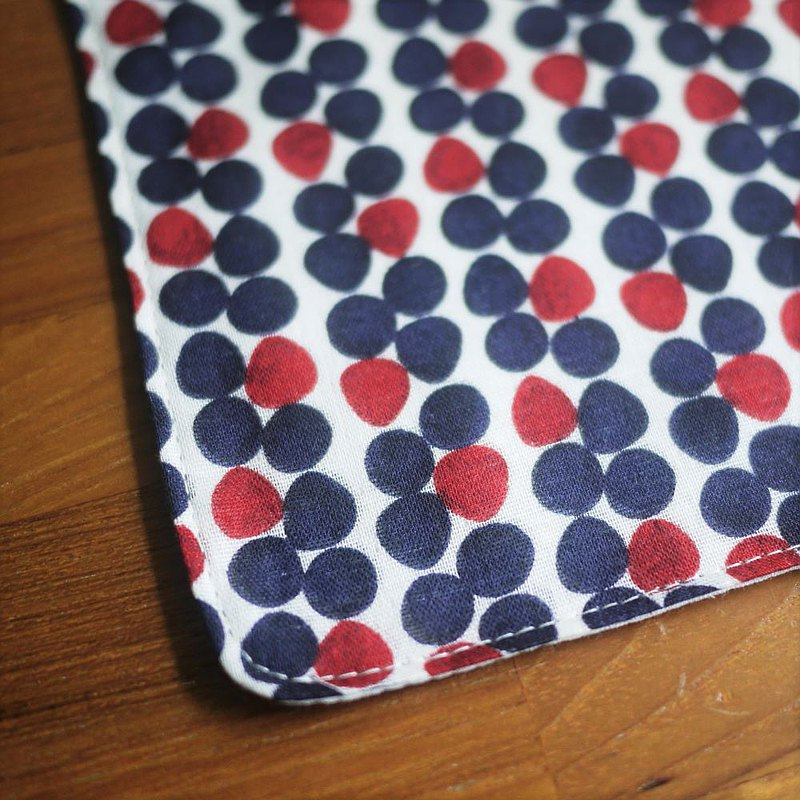 Japanese double yarn handkerchief = Pocar = red + blue