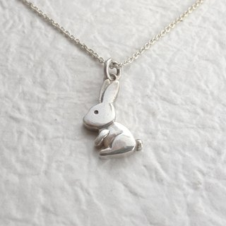 Sterling Silver - Mini Bunny Necklace - Merchandise with Silver Chain