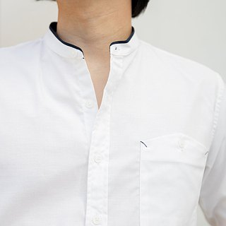 White shirt with armbands in multicolor  color : white material : cotton fabric