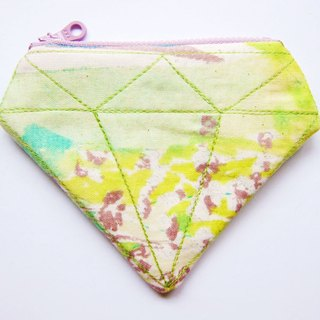 Zipper bag / purse Drawing Diamond (also choose other purse fabric patterns)