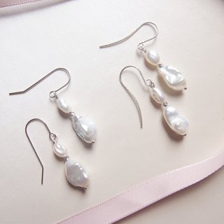 For BBF Short Dangle Freshwater Pearl Earrings | Able to change into clip on