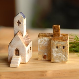 [Christmas gift exchange] blue brown roof -7 Southern France Thao house (ceramic 2) Valentine's Day Birthday Gifts +