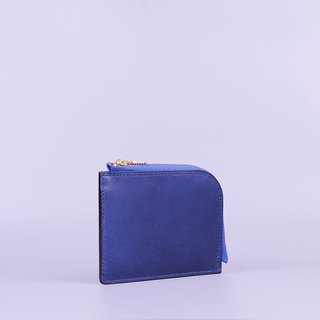 Hand Sew L Wallet_Blue/L Shaped Wallet_Blue