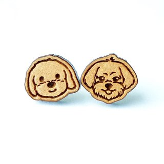 Plain wood earrings-Maltese
