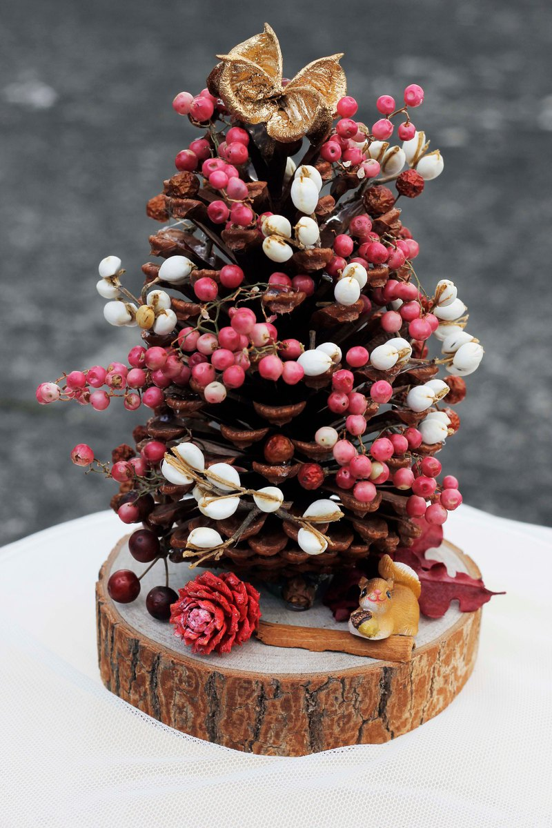 Christmas Tree / Pinecone Christmas Tree / Christmas Gift / Exchange Gift / Decoration / Squirrel