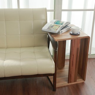 Handmade solid wood / teak integrated bedside table
