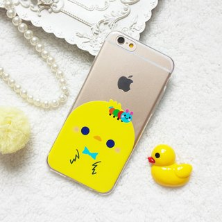 yellow Chick chicken animal Pattern Clear TPU Phone case iphone x 8 7 plus S9 S8