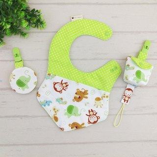 Monkey elephant good friend. Fu bag + pacifier bag + pacifier chain + bib (can increase the price of 40 bags)
