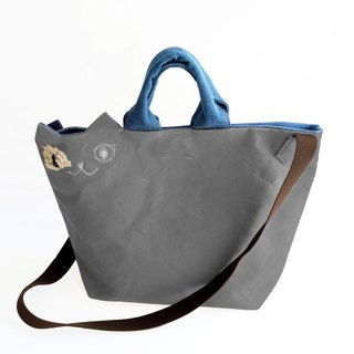 Casual dress ☆ Canvas cat shoulder bag gray (order made)