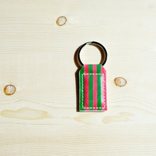 Sanku - Leather hand made - Magnet key ring - is Christmas, not watermelon