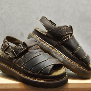 Tsubasa.Y Ancient House Black 005 Martin Sandals, Dr.Martens England