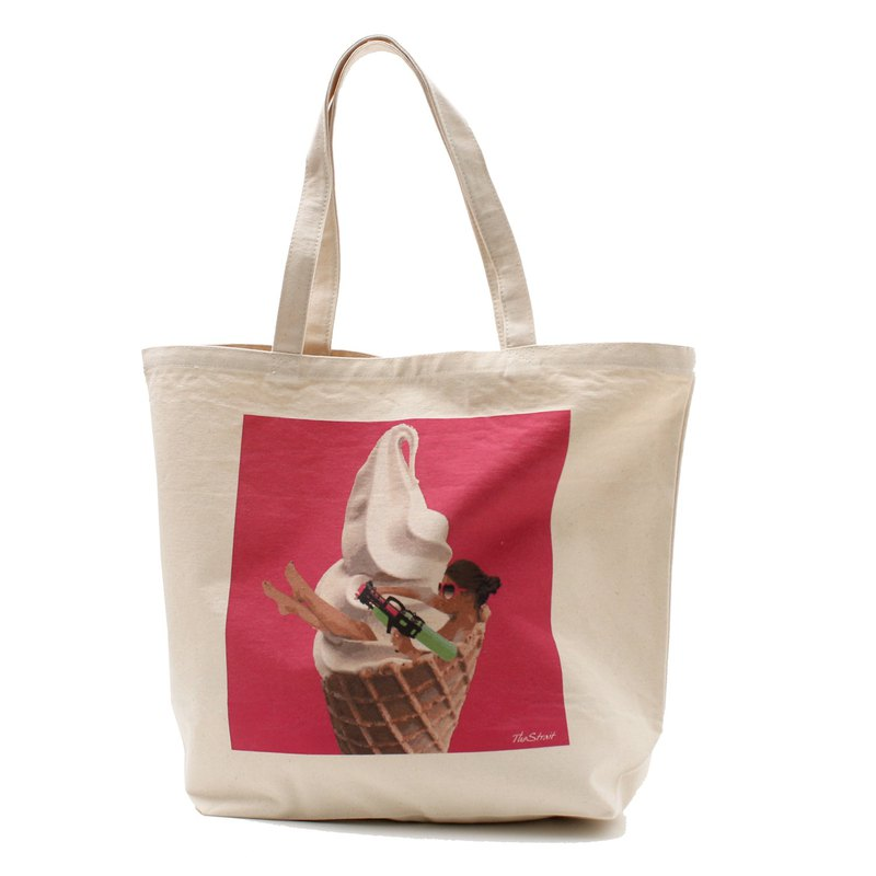 SOFT CREAM TOTE BAG (L)