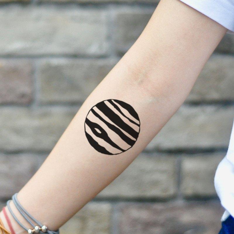 OhMyTat 木星星球 Jupiter Planet 刺青圖案紋身貼紙 (2 張)