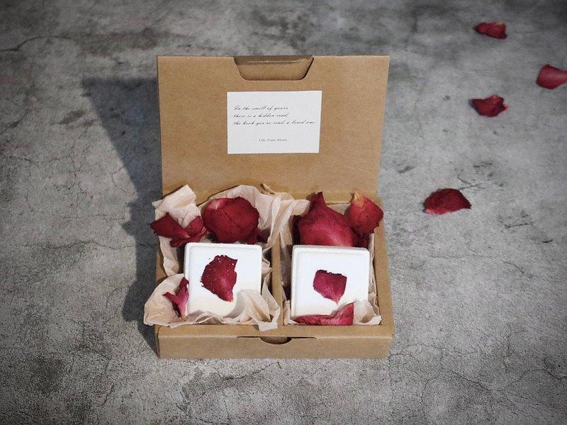 玫瑰純露綿密泡泡泡澡錠二入 草本玫瑰
