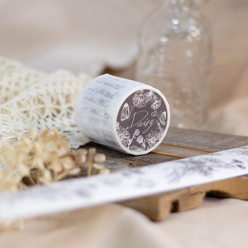 5cm紙膠帶 - 雛菊 Daisy - 自帶離型紙