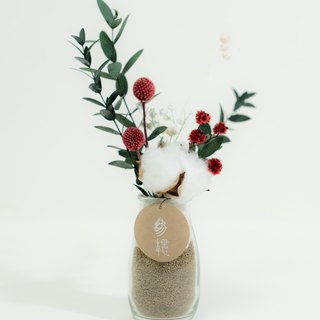 Shenlou [cotton and cotton woven flame] bottle series | dry flowers | eternal flowers | no withered flowers