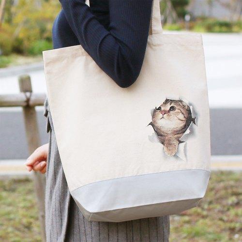 9418ce7367 Mousou Mapping Tote bag  Kitten in the bag - Designer ekoD Works ...