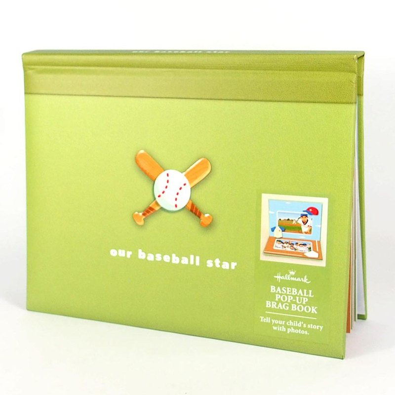 I love baseball stereoscopic 9 in [Hallmark-acid-free phasebook/photobook simple style]