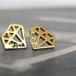 Jewelry motif earrings / brass