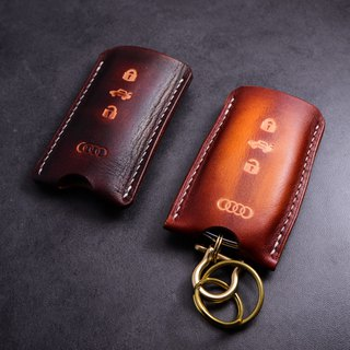Cans handmade custom real leather for Audi Q5/A4L/A6L/A8L/A5/S5 car key sets