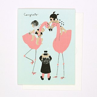 Flamingoes - Congrats Card