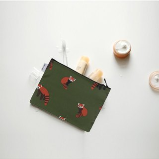 Small day tarpaulin cosmetic bag M-12 red panda, E2D10263