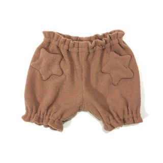 Star motif warmth worth baby short pants   OrangeBrown