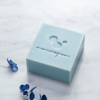 A touch of green handmade soap │ blue whimsical rice soft skin soap │ neutral skin │ cleansing bath