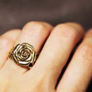 Rose Wrapped Brass Ring