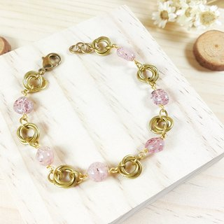 cirCle Life. Carroll strawberry pink crystal bracelet _