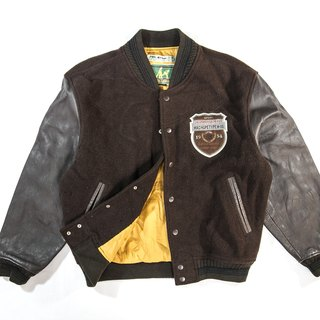 [3thclub Ming Ren Tang] retro leather sleeve baseball jacket wool vintage BSE-006 Japan
