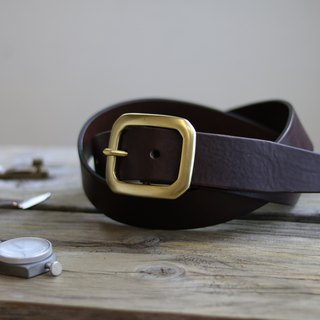 <CANCER流行實驗所> - Handmade belt / 40mm / suitable for men and women / coffee / brass