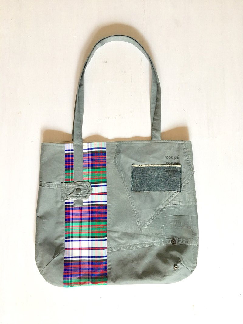 totebag Vintage Madras Check Tote Bag tf-328