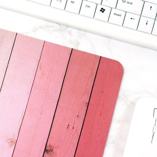 Pink Ombre Wood Mousepad Desk Supplies for Women