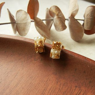 *coucoubird*gorgeous - mini pearl gold ear acupuncture / square