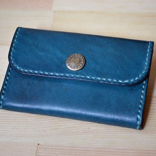 Leather cowhide vegetable skin hand made coin purse coin bag custom printing English letters