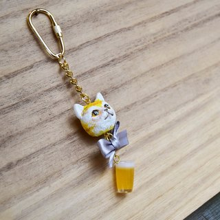 Drunk A hung, kitten key ring