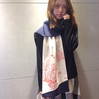 Design No.SF177 - 【Sea Fans Coral】Handmade Scarves