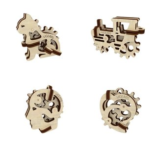 /Ugears/ Ukrainian wooden model hand itching series - mini commemorative set