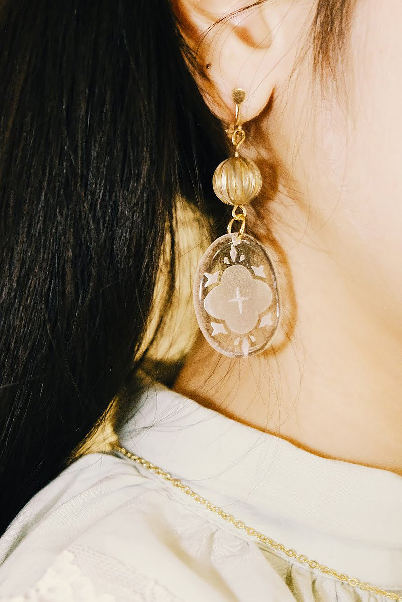 玻璃耳環 BLOSSOM