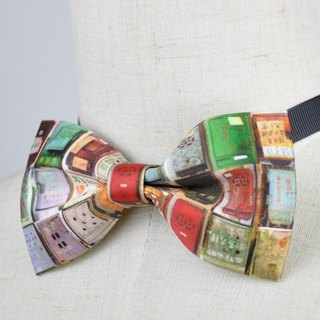 Old letter box bow tie, letter box 铁, iron old letter box pattern bow tie, features 煲呔